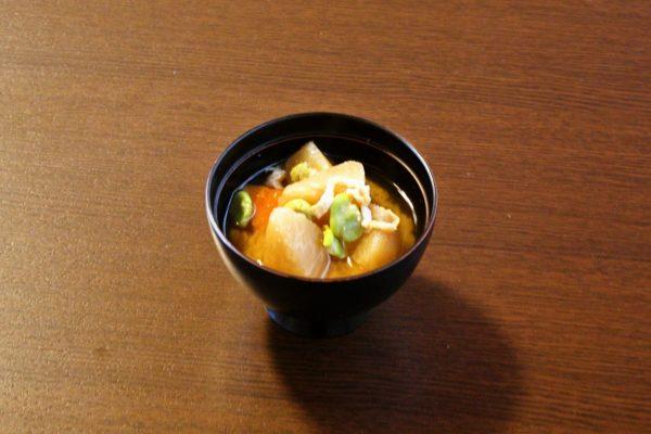 遠山蕪の味噌汁